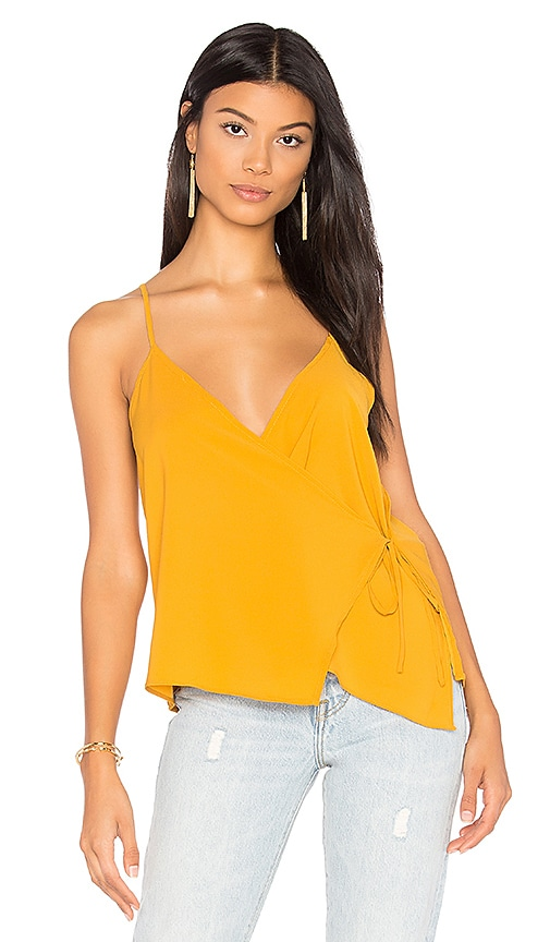 WYLDR Cross Back Tank in Mustard