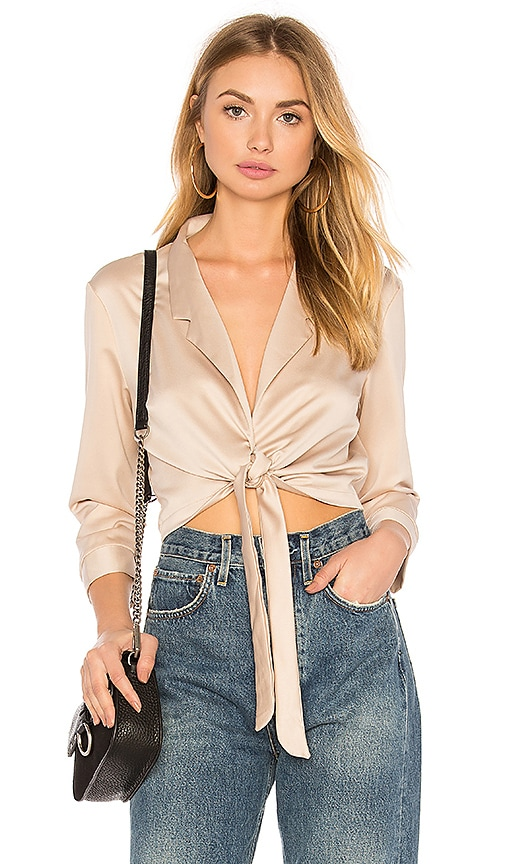 WYLDR Forever Lost Blouse in Tan