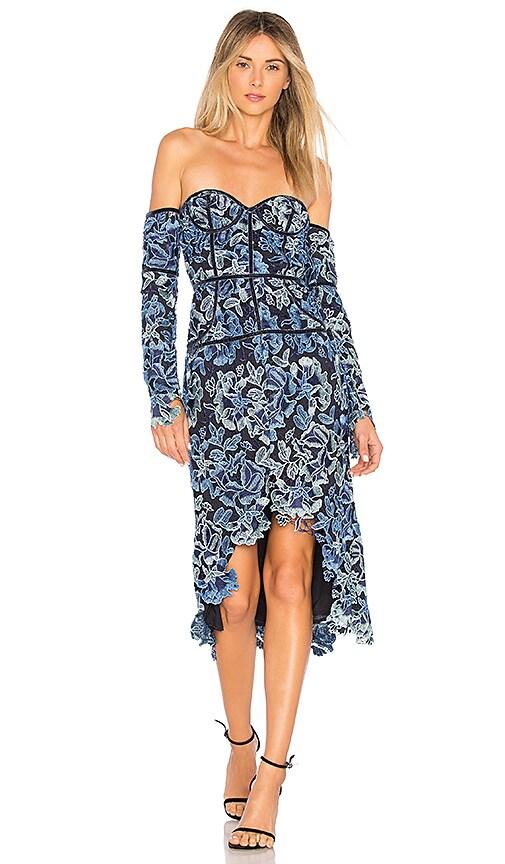 X by NBD Emilia Dress in Blue