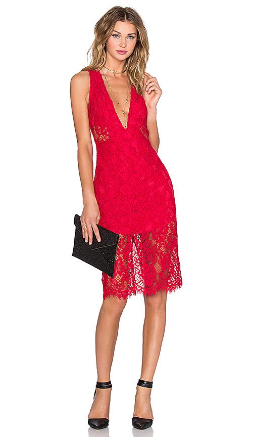 X by NBD Scarlett Dress in Red