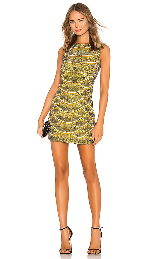 Monty Embellished Python Mini Dress