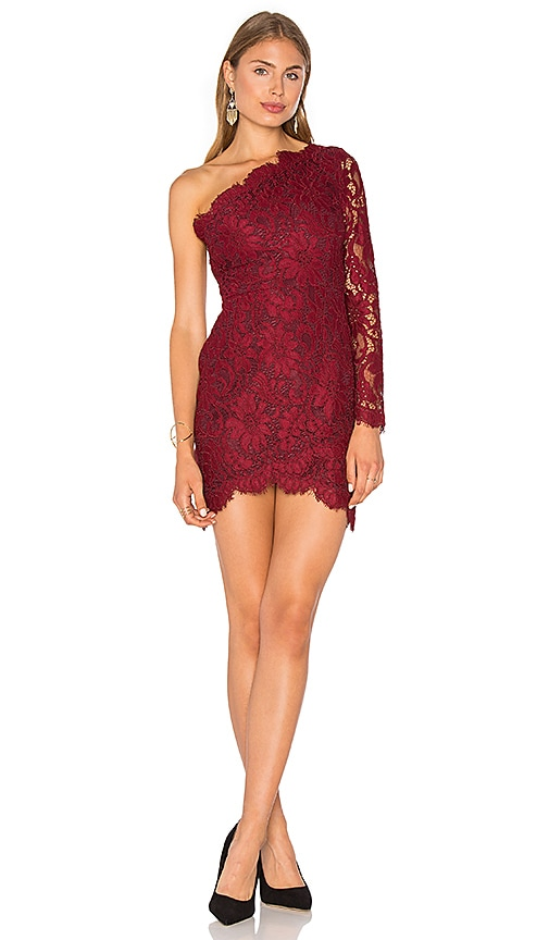 X by NBD Mia Dress in Burgundy