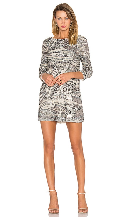X by NBD Anay Dress in Metallic Silver