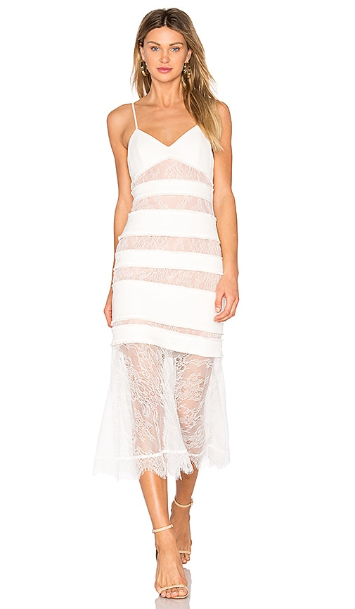 X by NBD Skylar Dress in White