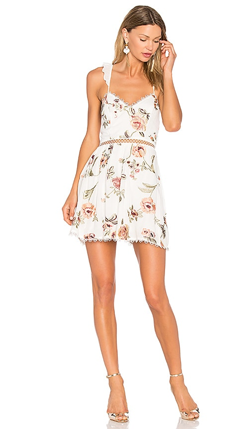 X by NBD Grady Embroidered Mini Dress in White