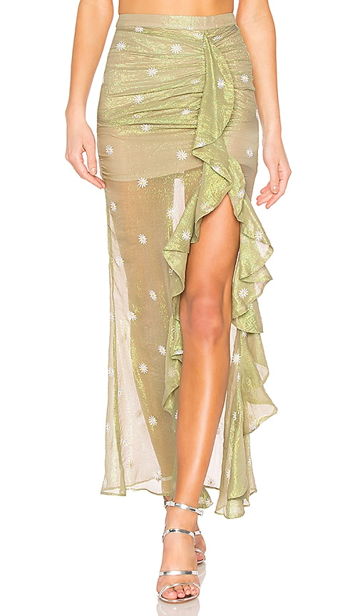 X by NBD Bellisima Skirt in Green
