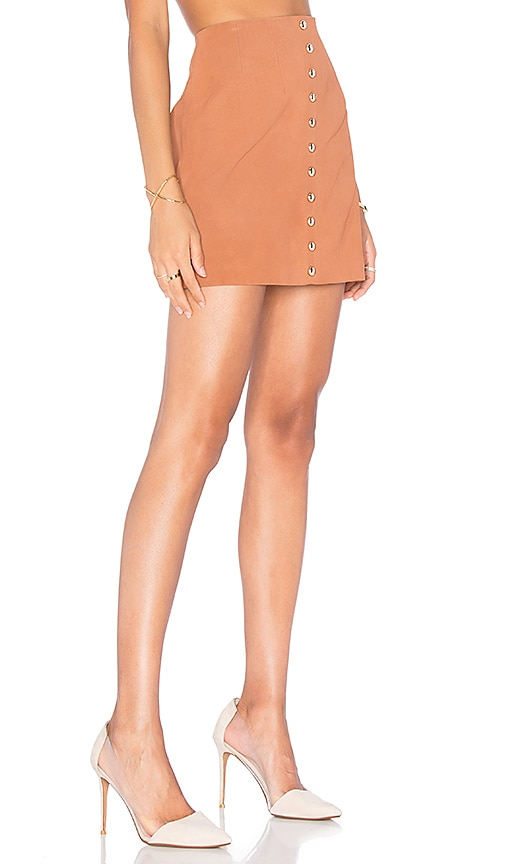 X by NBD Anja Skirt in Cognac