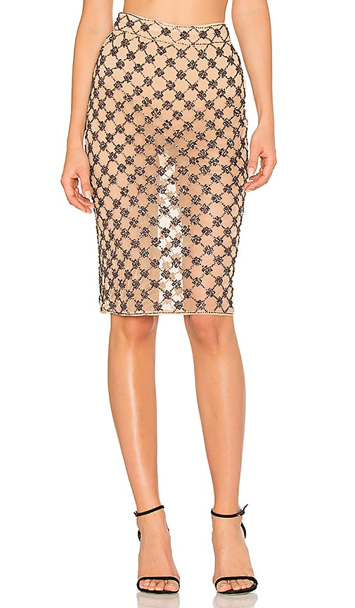 X by NBD Eliza Skirt in Beige