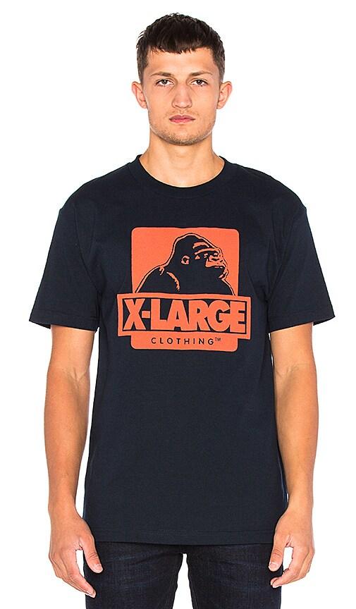 XLARGE OG Logo Tee in Navy