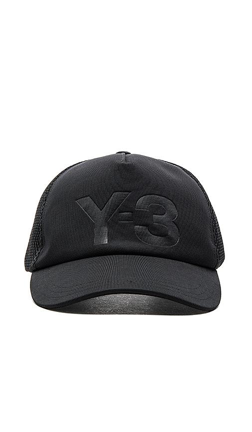 27e39465 Y-3 Yohji Yamamoto Trucker Cap in Black | REVOLVE