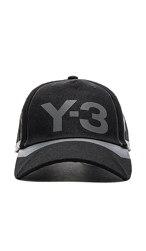 Y-3 Yohji Yamamoto Const Cap in Black