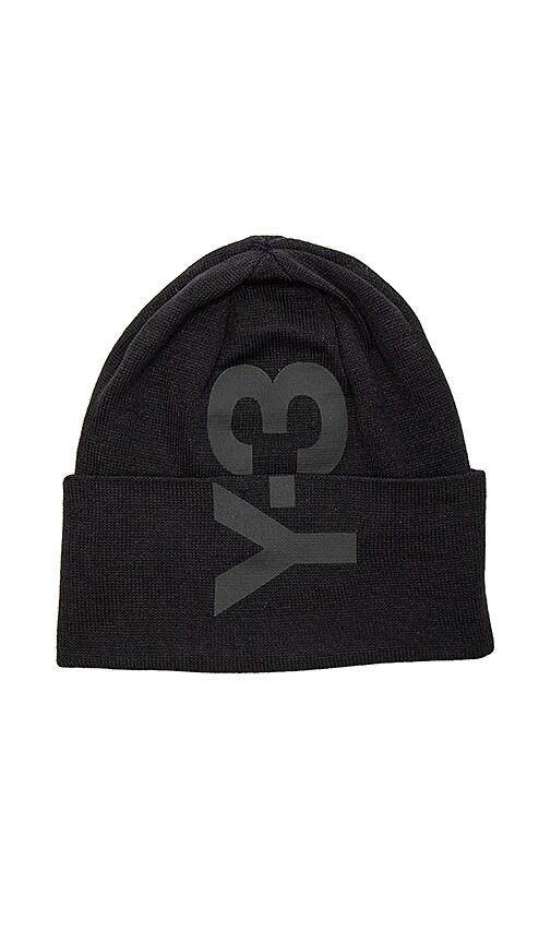 Y-3 Yohji Yamamoto Logo Beanie in Black