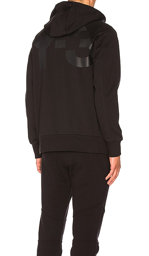 Y-3 Yohji Yamamoto Classic Sweat Zip Up Hoody in Black