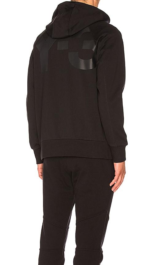 Y-3 Yohji Yamamoto Classic Sweat Zip Up Hoody in Black