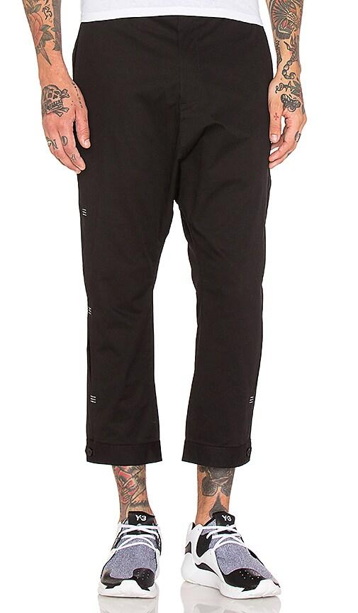 Y-3 Yohji Yamamoto Bar Tack Pant in Black