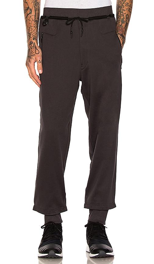 Y-3 Yohji Yamamoto Branded FT Pants in Charcoal