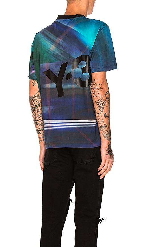 Y-3 Yohji Yamamoto AOP Tee in Blue