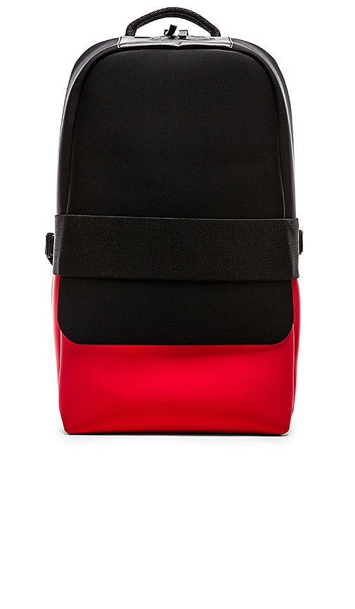 93a8e2cef3 Y-3 Yohji Yamamoto Day Backpack ll in Black Roundel Red
