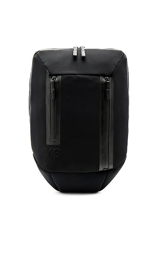 Y-3 Yohji Yamamoto Flat Backpack in Black