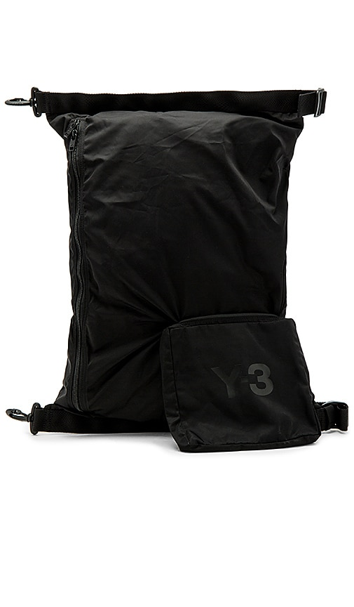 Y-3 Yohji Yamamoto Packable Bag in Black