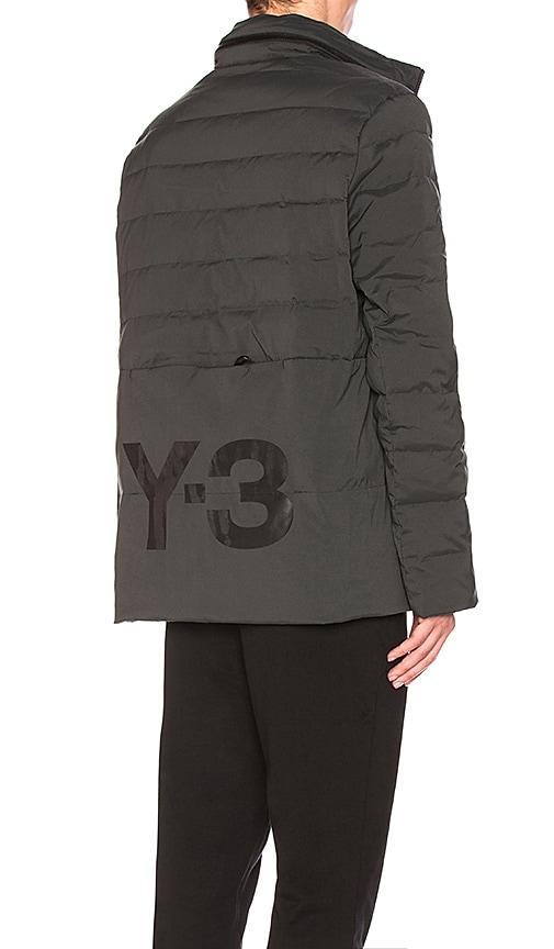 Y-3 Yohji Yamamoto Matte Down Jacket in Solid Grey  c75d32b541837