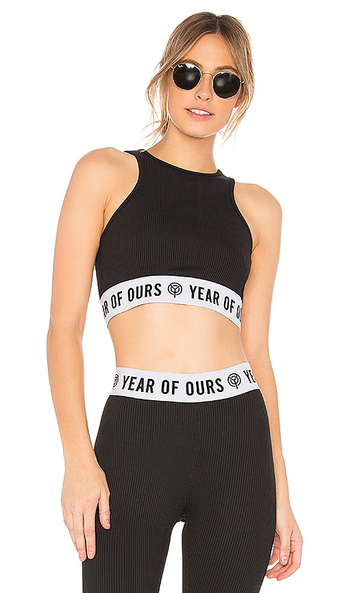 56c4184c46826 YEAR OF OURS Ribbed New Open Back Bra in Black