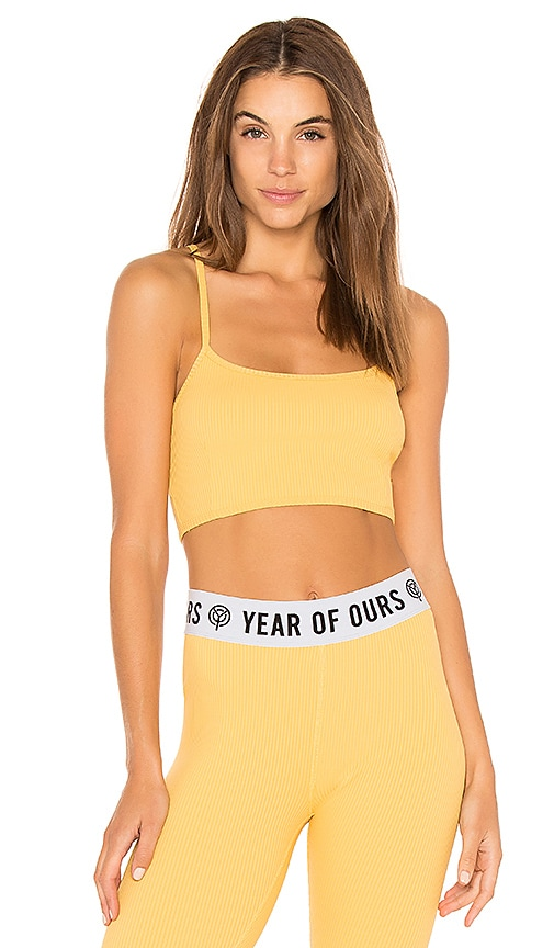 YEAR OF OURS Rib Bralette in Yellow
