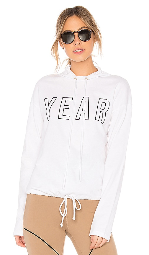 YEAR OF OURS Sporting Pullover Hoodie in White