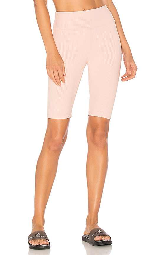 YEAR OF OURS Ribbed Biker Short in Pink