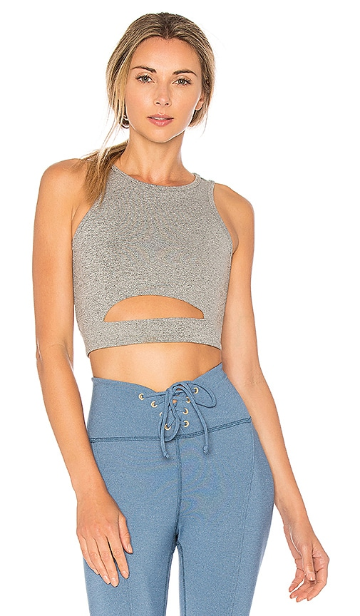 YEAR OF OURS Cut Out Bra in Gray