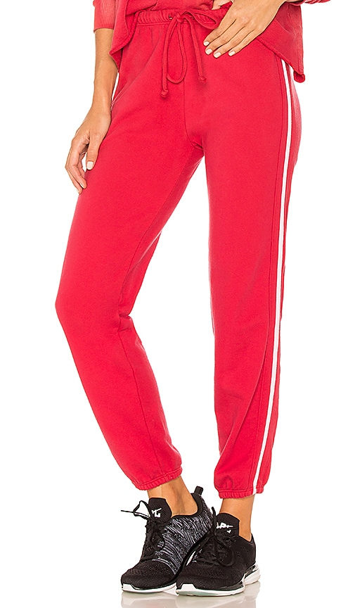 YEAR OF OURS Boyfriend Track Pant in Red