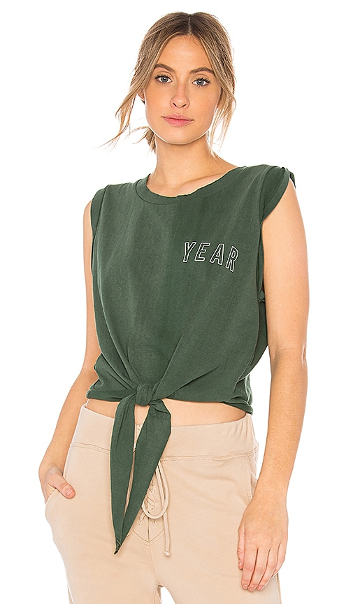 YEAR OF OURS Tie Up Muscle Tank in Green