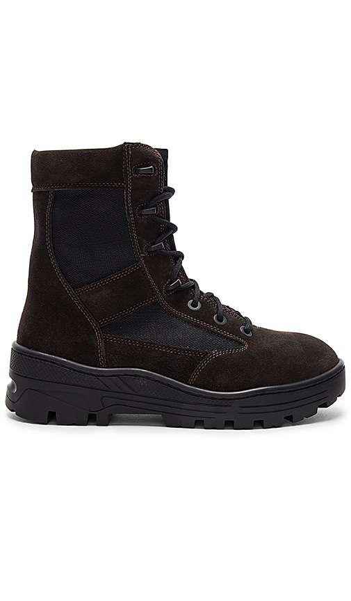 YEEZY Season 4 Combat Boot in Chocolate Brown