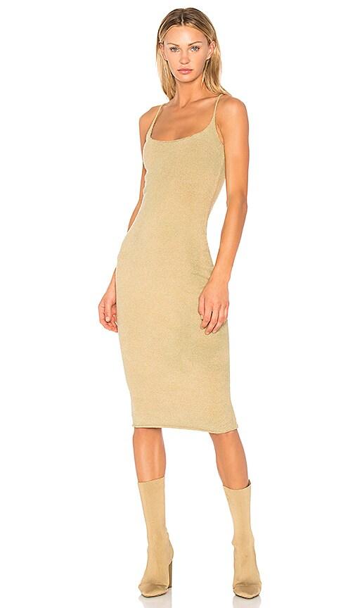 YEEZY Season 4 Boucle Midi Dress in Beige