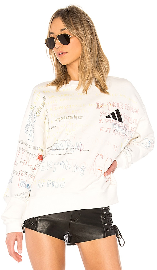 Yeezy Season 5 Graphic Crew Neck Sweatshirt In Arctic Revolve