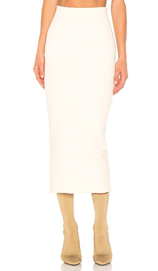 YEEZY Season 4 Boucle Skirt in White