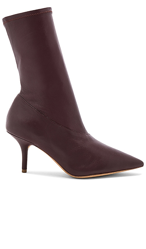 YEEZY Season 5 Ankle Bootie in Burgundy