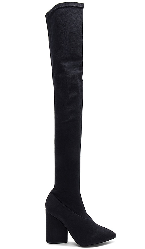 YEEZY Season 4 Thigh High Boot in Black