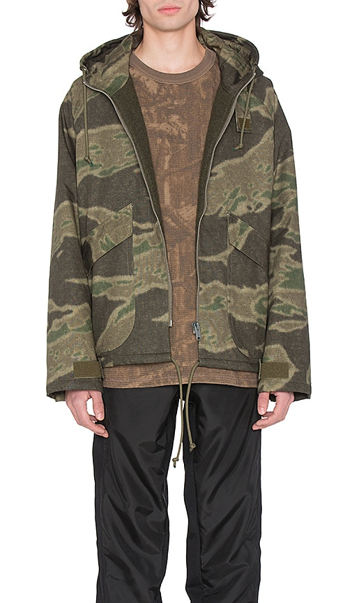 YEEZY Season 3 Printed Anorak in Green