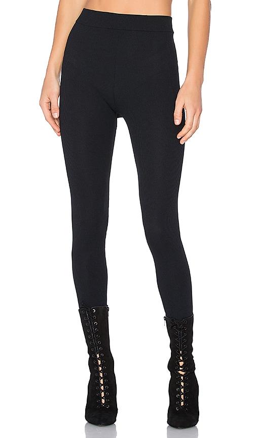 YEEZY Season 3 Seamless Athletic Knit Legging in Black