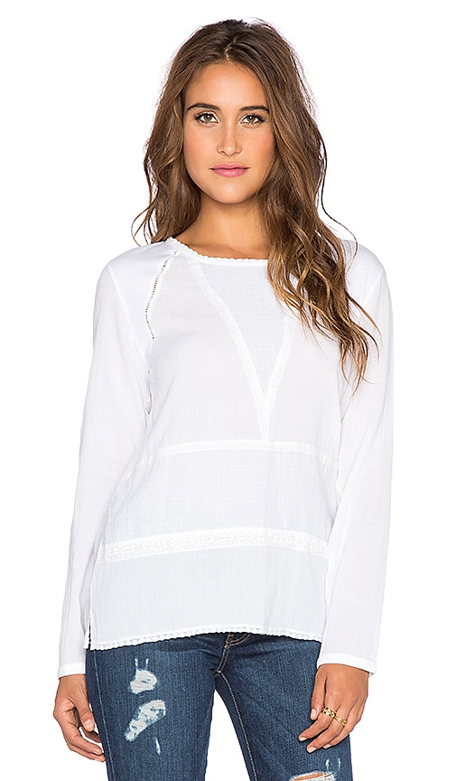 Yerse Lace Blouse in White