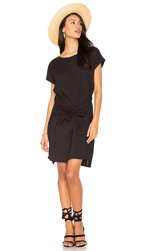 YORK street Tie Front Dress in Black