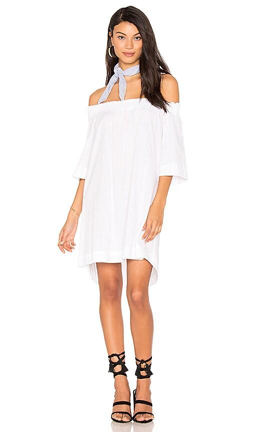 YORK street Shirred Dress in White