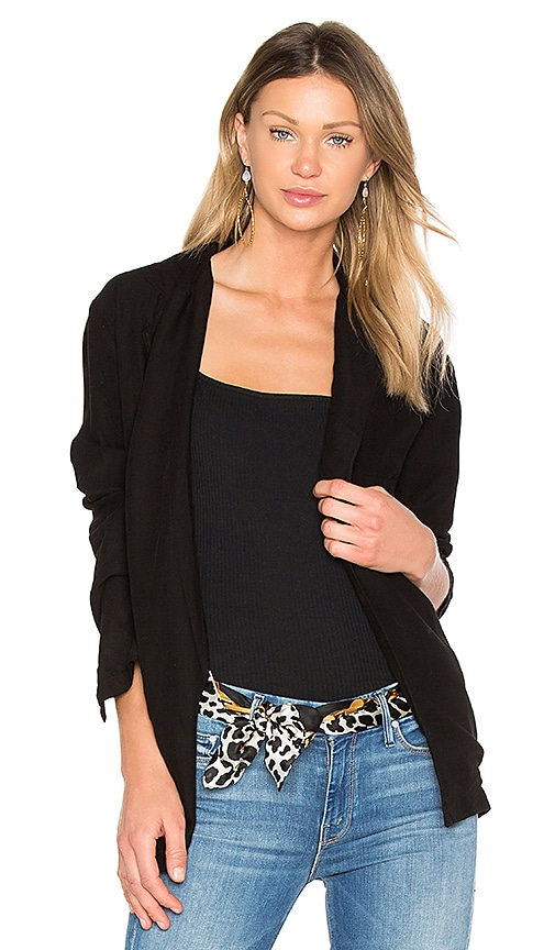 YORK street Cocoon Blazer in Black
