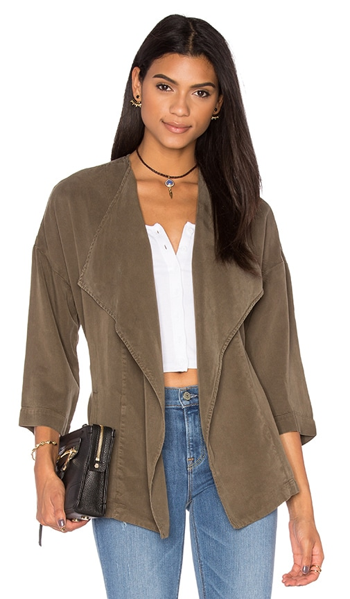 YORK street Wrap Blazer in Army