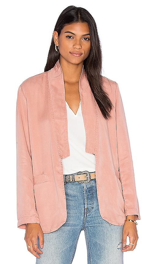 YORK street Slim Shawl Collar Blazer in Rose