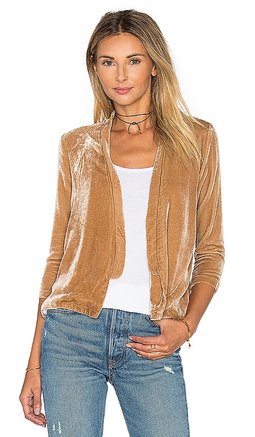 YORK street Slim Bolero Blazer in Tan