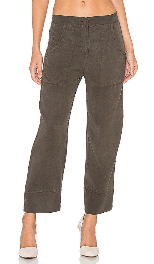 YORK street High Waisted Chino Pant in Olive
