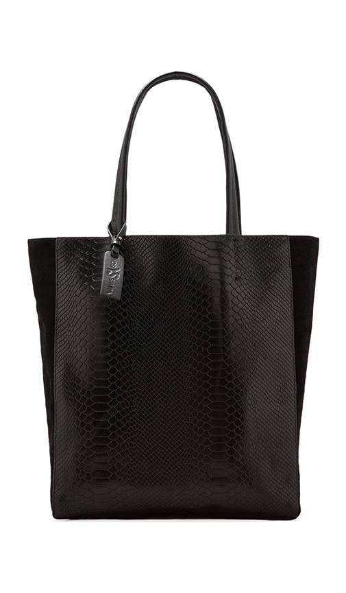 Two Tone Croco Tote Bag