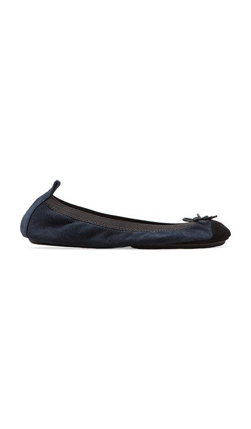 Two Tone Cap Toe Ballet Flat